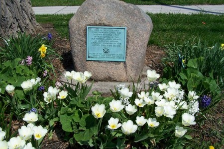 In 1927, the General Swift Chapter, Daughters of 1812, placed two boulders with bronze plaques at Sodus Point, one at the site of the engagement, and the other at the site of the Mansion House where Mr. Warner died