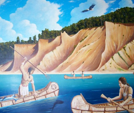 Native American Fishing Mural
