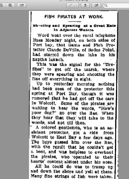 Fish Pirates article from April 9 1908