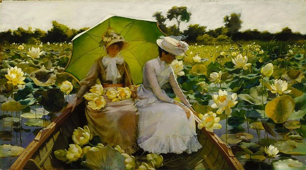 Charles_Courtney_Curran_-_Lotus_Lilies 600x334