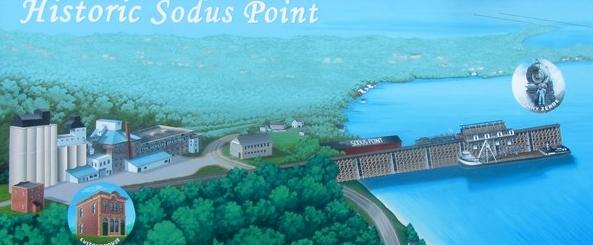 Historic Sodus Point Mural 600x261